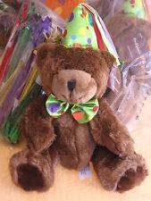 ProFlowers HAPPY BIRTHDAY TEDDY BEAR Choc BROWN PLUSH Stuffed Pro Flower NWT NEW