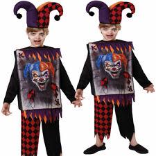 Disfraz de Halloween Bufón Chicos Chicas Naipes Circo Vestido de fantasía Traje