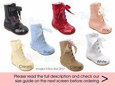 Baby Girls & Girls Faux Patent Spanish Lace Up Boots Sizes 2(EU18) - 12(EU30)