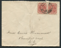 TRANSVAAL: (21576) TPO UP, Beaufort West, Cape cancel/cover
