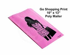 New listing (60) Go Shopping Print 10 x 13 Poly Mailers Self Sealing Envelopes Bags Designer