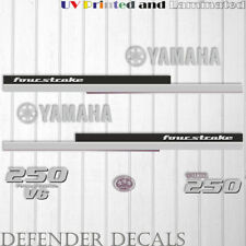 YAMAHA 250 HP Four Stroke Outboard Engine Decal Sticker Kit reproduction V6