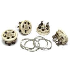 4x Amphenol CPH49369 US-Röhren-Fassung, Keramik UX5 Röhrenfassung f. 807 etc.