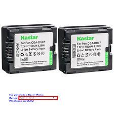Kastar Replacement Battery for Panasonic CGR-DU07 CGA-DU07 & NV-GS230 NV-GS250