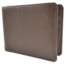 Louis Vuitton Authentic Men's Wallet Slender 6 Card Taiga Leather Brown Bi-fold