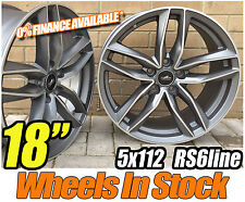"18"" RS6 NEW STYLE ALLOY WHEELS FOR AUDI A4, A3, A6, VW GOLF MK5 MK6 GTI TDI SEAT"