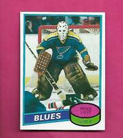 1980-81 TOPPS # 31 BLUES MIKE LIUT GOALIE ROOKIE EX-MT CARD (INV# D0224)