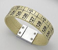 """7"""" Gold Shimmer Tape Measure Suede Leather Bracelet Designer Seamstress Fasion"""