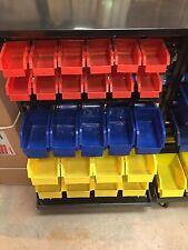Mobile Storage Bin Rack Organiser Tool Garage Storage Parts (60 Bins)