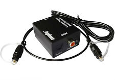 Analog to Digital Audio Converter Analog L/R to Digital Optical Toslink Coaxial