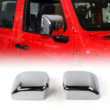 Replacement ABS Chrome Side Door Wing Mirror Cover Cap Trim For Jeep Wrangler JL