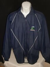 Pro quip Gore-Tex Blue w/White trim Full Zip Weatherproof Jacket Sz. L