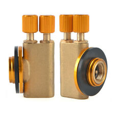 Dual Outlets Camping Stove Burner Adapter Gas Tank Converter Connector Valves