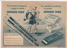 """Volantino pubblicitario  """"EBERHARD FABER"""" gomme per cancellare - orario.."""