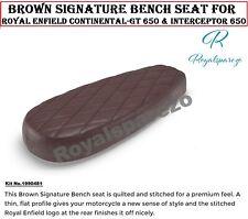 """ Marron Signature Bench SEAT "" Royal Enfield Interceptor 650 & Continental-Gt"