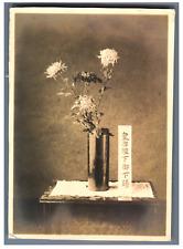 Japon, Etude de fleur  Vintage silver print.   Tirage argentique  10x14  C