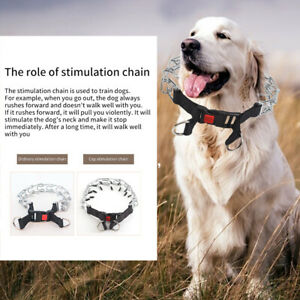Pet Choker Pinch Training Dog Prong Collar Harness Safe Puppy With Snap Buckle
