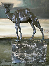 Camel Ride Zoo Bronze Marble Statue Hump Day Office Travel Sculpture Figurine