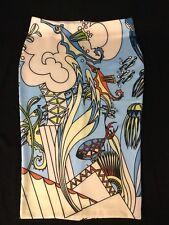 Ocean Sea Comic Stretch Pencil Skirt Size L 12 New