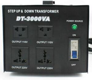 3000VA 220V - 110V Step Up & Step Down Voltage Transformer Converter UK to US