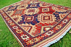 COLLECTORS' PIECE Stunning Natural Vegetable Dye Washable Shirvan Caucasian Rug