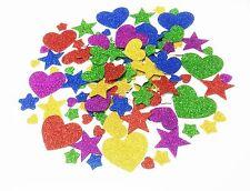 Más de 250 3D Brillo Pegajoso Espuma Pegatinas Autoadhesivas Corazón/Star formas Niños Arte