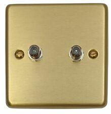 coaxial socket laiton poli blanc insère gu7240wpb Obtenez plat plat par satellite