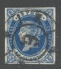 ESPAÑA Edifil 59 Isabel II Rueda de Carreta 6 - Málaga 12 Cuartos 1862