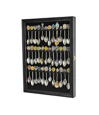 36 Spoon Display Case Rack Holder Wall Cabinet Gl Door Black Sp01l Bla