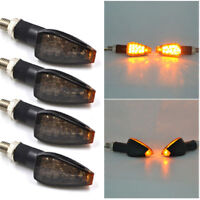 4x Black Motorcycle LED Turn Signal Blinker light Indicator Amber Lights 10mm