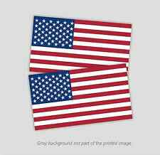 "2- American Flag Decals Stickers - 3.5"" x 6"" Patriotic Usa U.S. Old Glory"