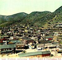 1900s Bisbee, Arizona - Brewery Gulch & Chichuahua Hill Postcard PCK Town Scene