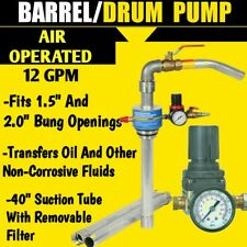 NEW Air Operated Barrel Drum Pump Oil Liquid Fluid Pneumatic 12 GPM Transfer