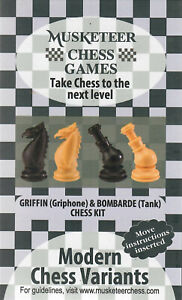 Musketeer Chess Variant Kit - Griffin & Bombarde (Tank) - Black & Natural