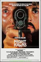 NIGHTHAWKS MOVIE POSTER International Folded 27x41 One Sheet SYLVESTER STALLONE