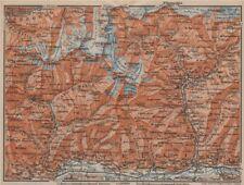 VAL MASINO/BREGAGLIA ALPS. Disgrazia Caspoggio Tellina Malenco Sondrio 1913 map
