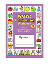 Wow! I Can Read Writing Workbook Stage 2 Ends & Blends Handwriting Cursive