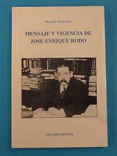 Mensaje Y Vigencia De Jose Enrique Rodo * 1992 * Orlando Gomez Gil