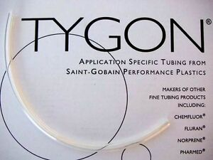 "Tygon 2375 tubing 12"" Clear Brake Reservoir Hose 6mm ID 30cm length 1/4"""