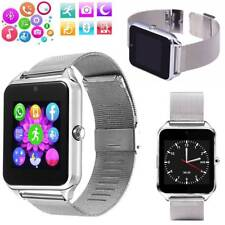 Stainless Steel Bluetooth Smart Watch Phone For Samsung Galaxy S9 S8 S8 Plus Zte