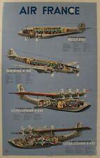 1938 AIR FRANCE AIRPLANE DIAGRAM Poster Gerard Alexander Gerale Vintage Original