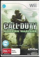 Nintendo Wii...Call of Duty...Modern Warfare...Reflex Edition...Video Game...VGC