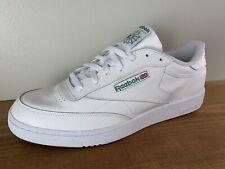NEW Reebok Classic Club Mens C85 White Green AR0456 Tennis Shoes Sneaker Size 14