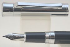 Baoer No. 519 Medium Fountain Pen, Lacquered Black with Polished Chrome Trim