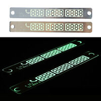 Car Parking Notification Phone Card Glow In The Dark Phone Number Accessories IJ