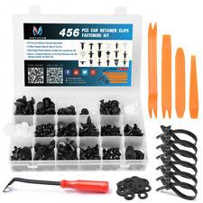 456PCS Car Trim Retainer Clips Door Panel Rivet Moulding Fastener Kit Remover