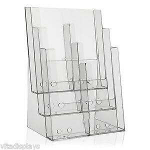 Prospektständer im DIN A4 Format auf 3 Etagen (optional teilbar in 6x DIN lang)