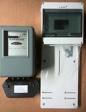 Zählertafel und Kraftstromzähler mit Sicherungskasten(9xTE),neu, 3F 9S