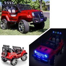 jeep 4x4 voiture quad électrique enfant 12 volts 4 moteurs pneus gomme rouge