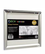 Seco Silver Anodized Aluminum Front-load Easy-open 8.5 x 11